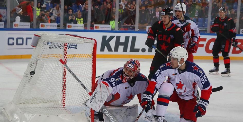 Матч регулярного чемпионата КХЛ между СКА и ЦСКА