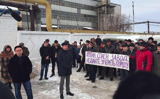 Митинг работников Сергачского сахарного завода. Февраль 2016 г.