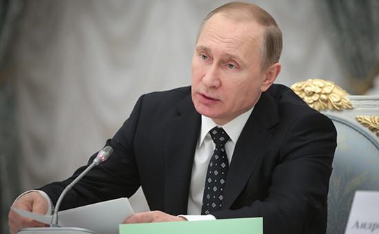 Президент России Владимир Путин проводит заседание Совета припрезиденте РФ понауке иобразованию