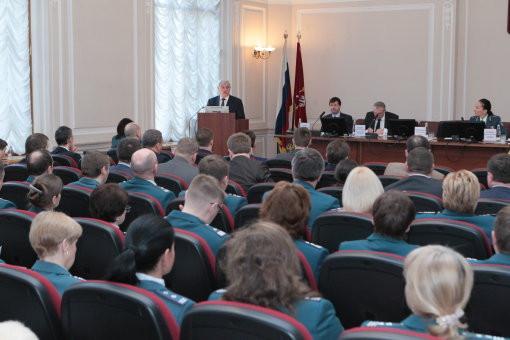 Заседание расширенной коллегии УФНС по Петербургу (подведение итогов работы налоговых органов города в 2015 году)