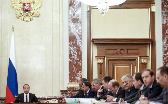 Премьер-министр РФ Дмитрий Медведевпроводит заседание правительственной комиссии по бюджетным проектировкам
