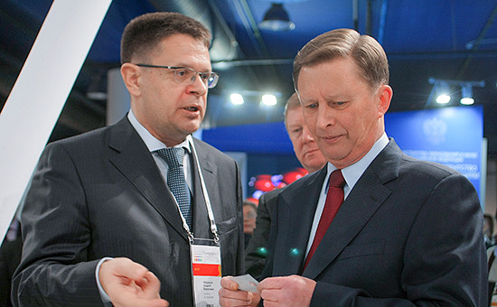 Экс-президент «Группы Е4» Андрей Малышев (слева) и руководитель администрации президента РФ Сергей Иванов