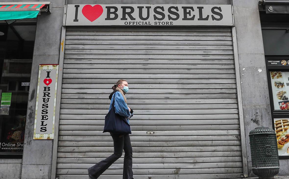 Закрытый магазин в Брюсселе