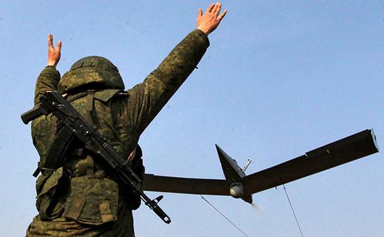 Запуск беспилотника на тактические учениях ВКС России. Архивное фото