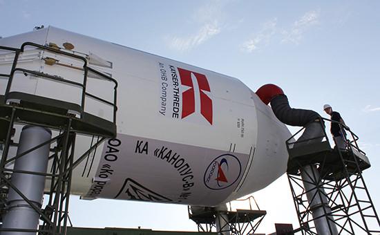 Ракета космического назначения «Союз-ФГ» с российским спутником«Канопус-В», 2012 год