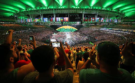 Во время церемонии открытия Олимпийских игр вРио-де-Жанейро