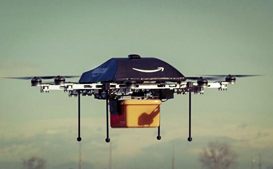 Беспилотный летательный аппарат Prime Air, разрабатываемый компанией Amazon для использования при доставке товаров