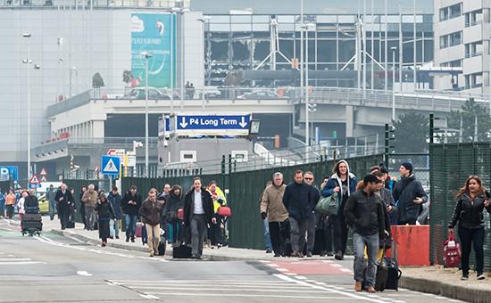 Брюссельский аэропорт Завентем, вкотором произошел взрыв 22 марта 2016 года
