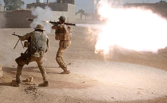 Иракский спецназ в южной части Мосула