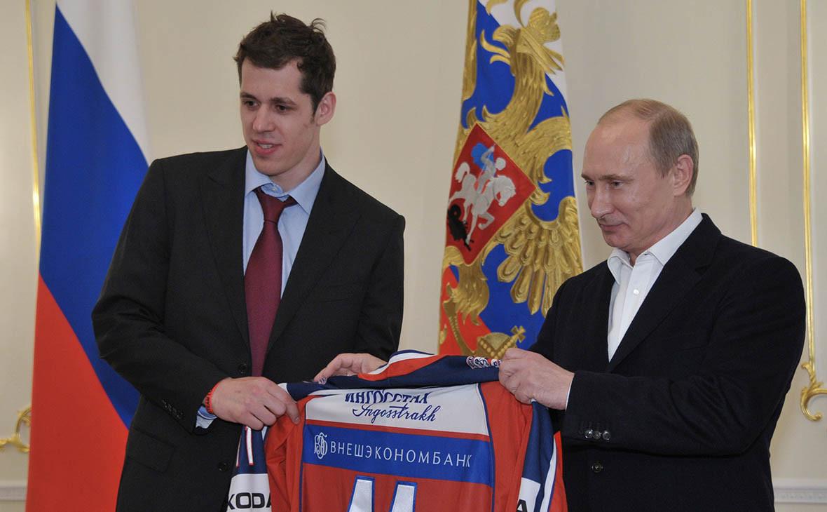 Евгений Малкин и Владимир Путин