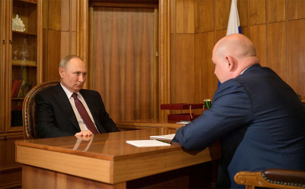 Встреча Владимира Путина сМихаилом Развожаевым