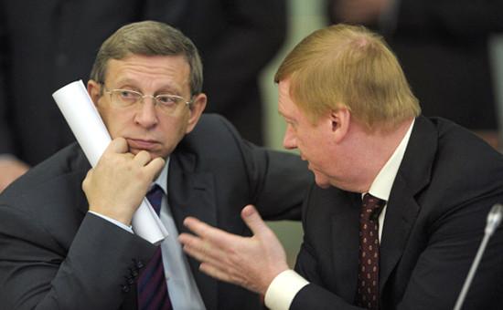 Владимир Евтушенков (слева) иАнатолий Чубайс