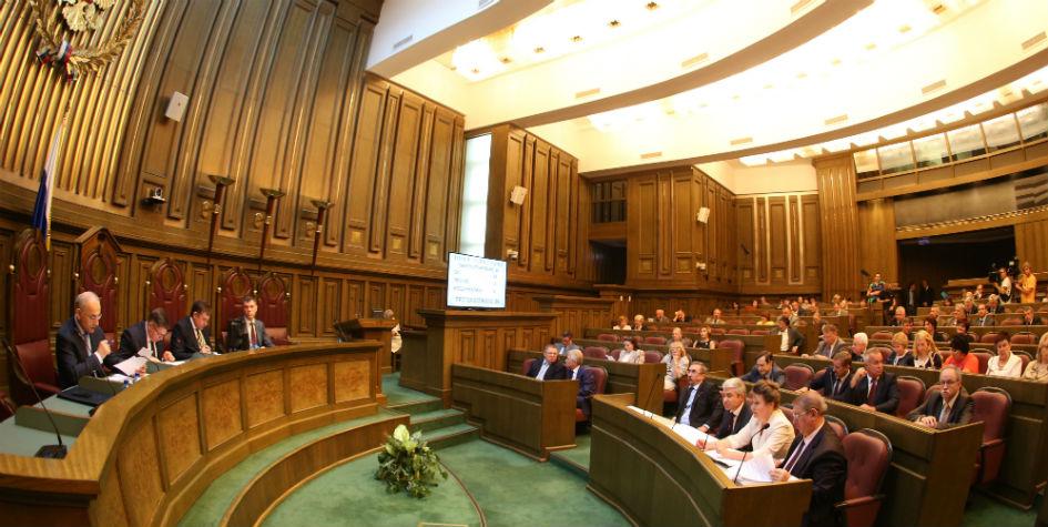 Во время заседания пленума Верховного суда РФ