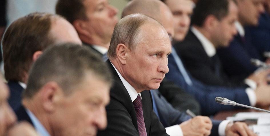 Президент РФ Владимир Путин на заседании Совета при президенте РФ по развитию местного самоуправления