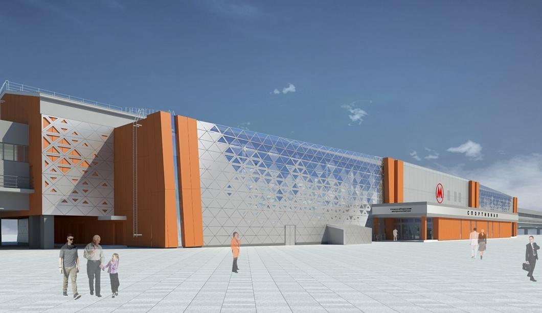 Решение фасада станции «Спортивная»