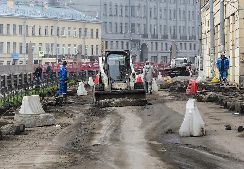 Санкт-Петербург. Дорожные работы