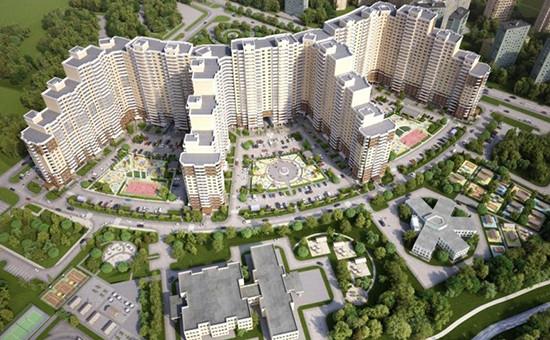 Проект микрорайонаОдинбург, возводимого компаниейAFI Development в г. Одинцове Московской области