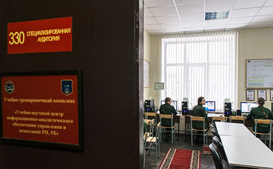 Учебная аудиторияв Военно-космической академии имени А.Ф. Можайского в Санкт-Петербурге