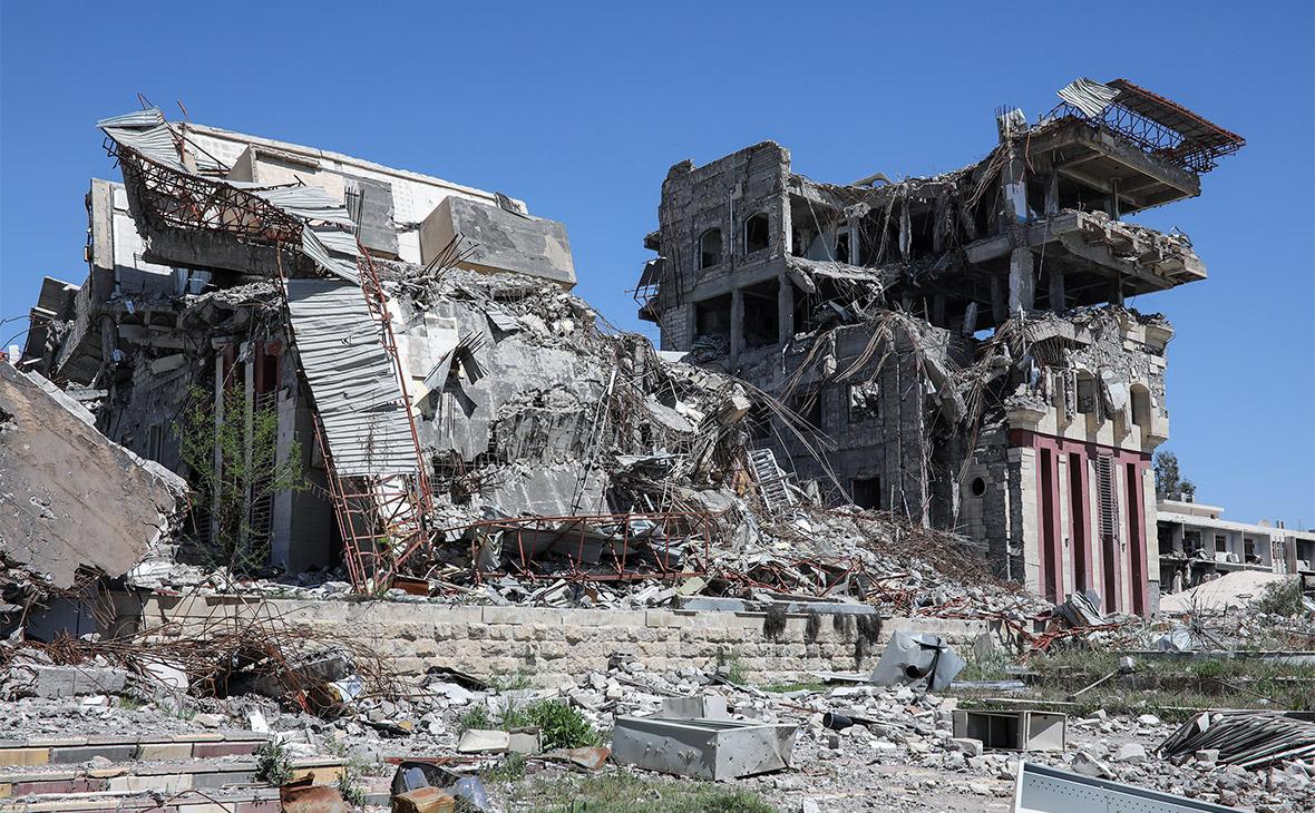 Вид на университет Мосула, гдехранилсярадиоактивный кобальт-60