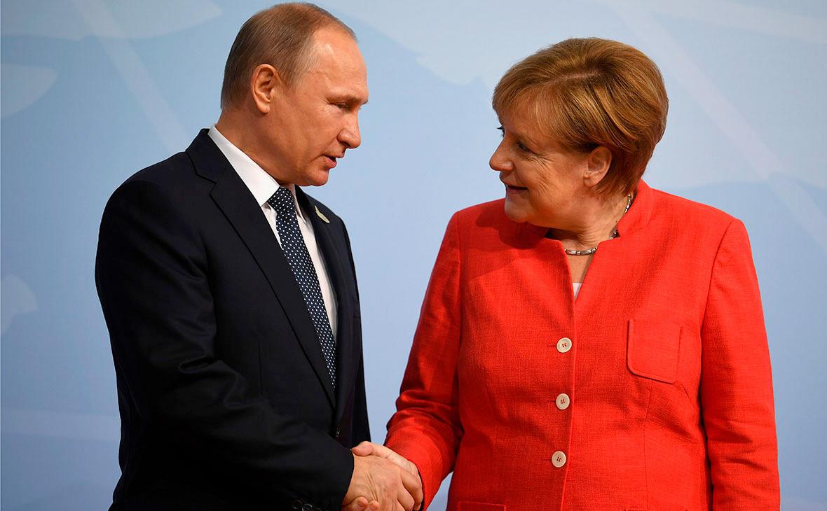 Владимир Путин иАнгела Меркель