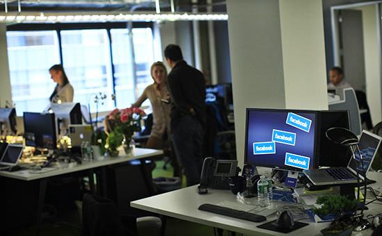 В офисе компании Facebook