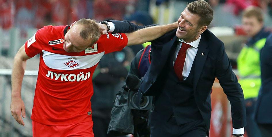 СМИ узнали о конфликте двух футболистов «Спартака» с главным тренером