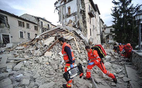Последствия землетрясения вИталии