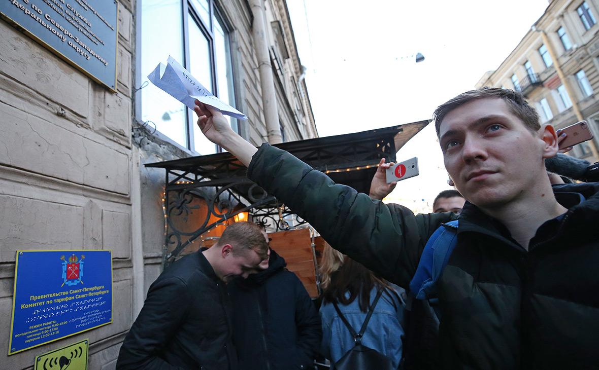 Флешмоб в поддержку мессенджера Telegram в Санкт-Петербурге, 13 апреля
