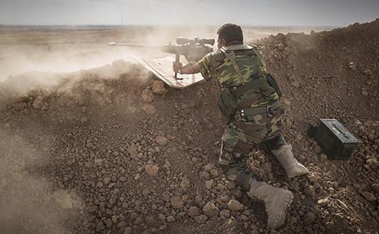 Во время наземной операции поосвобождению Мосула отбоевиков