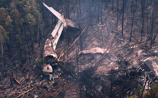 Место крушения самолета Ил-76