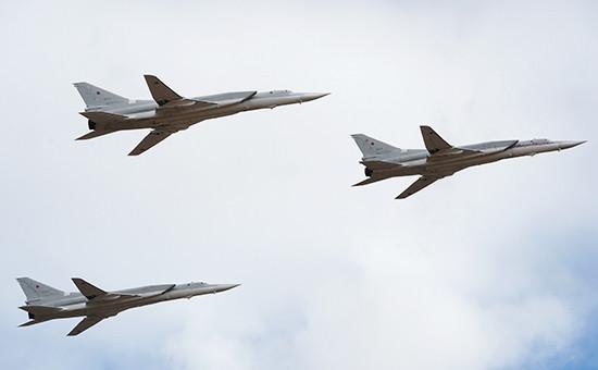 Российские бомбардировщики Ту-22МЗ. Апрель 2015 года