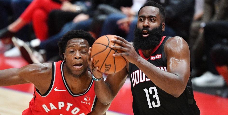 Матч регулярного чемпионата НБА между «Хьюстон Рокетс» и «Торонто Рэпторз»