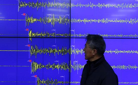 Южнокорейская метеорологическая служба провела замеры сейсмической активности после заявления Северной Кореи об испытаниях водородной бомбы