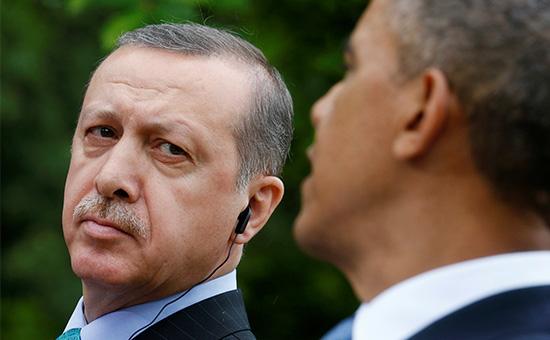 Президент Турции Реджеп Тайип Эрдоган (слева) и президент США Барак Обама