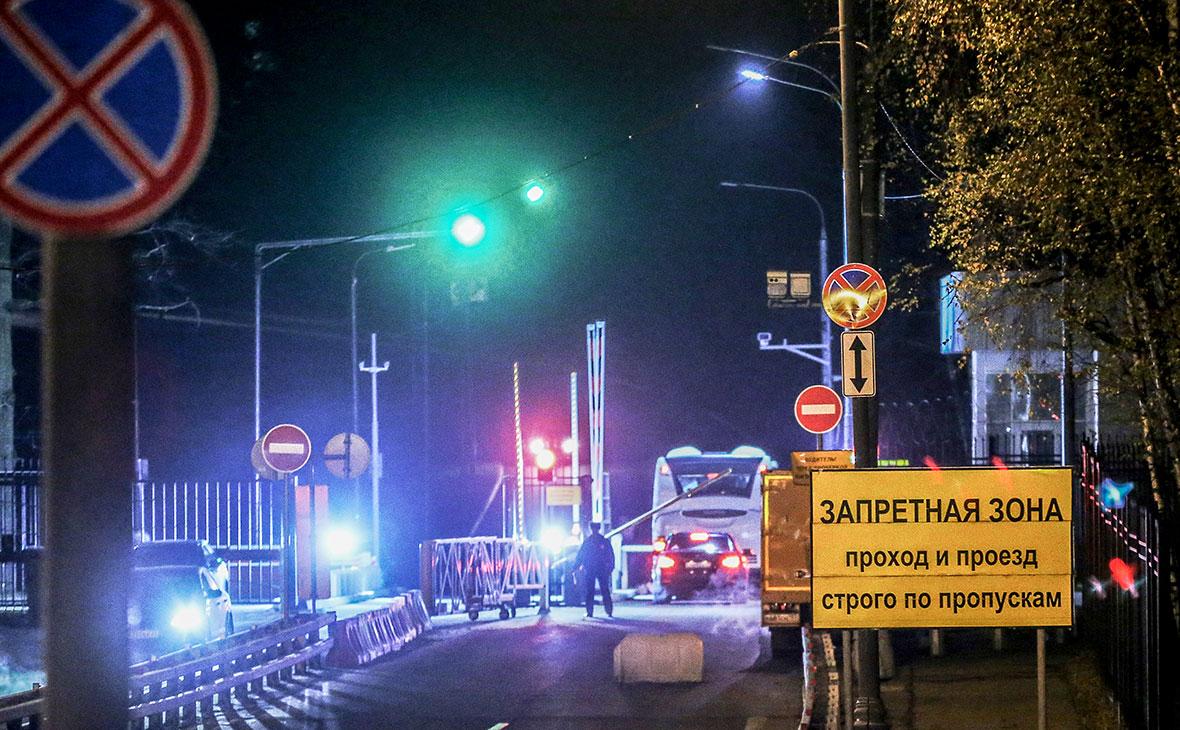 КПП закрытого объекта службы внешней разведки (СВР) России в Ясенево