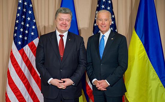 Президент Украины Петр Порошенко и вице-президент США Джозеф Байден