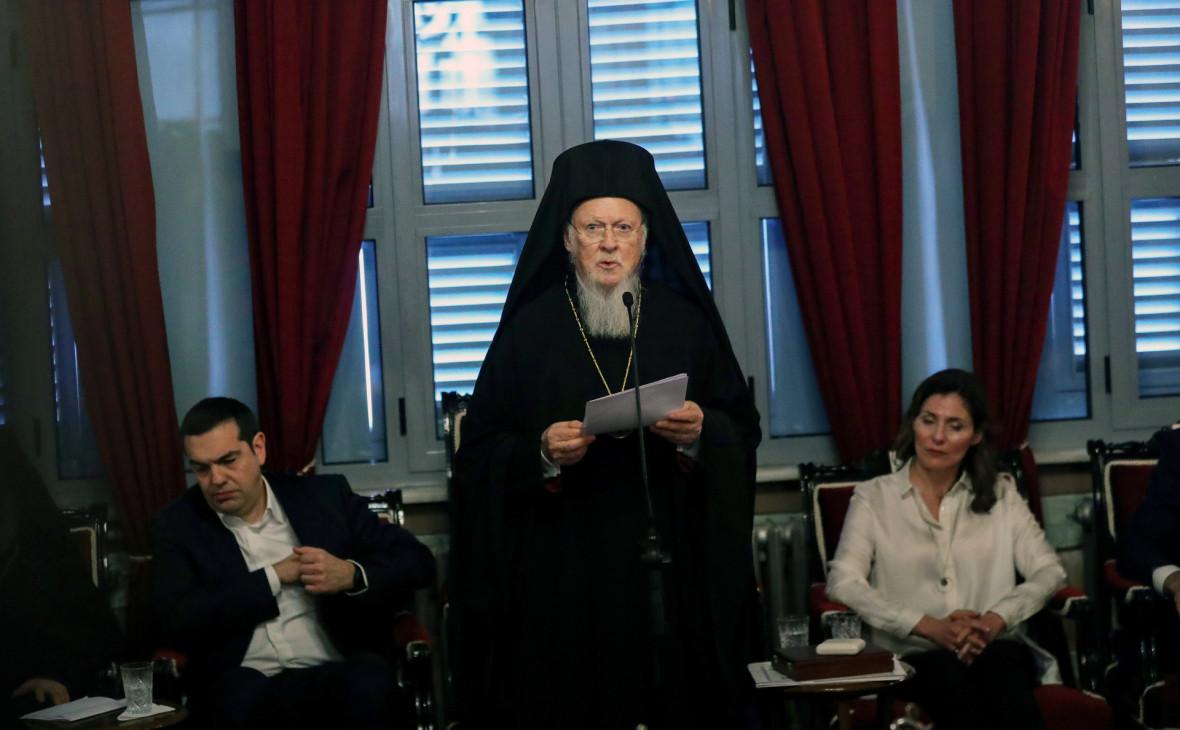 Патриарх Варфоломей (в центре)