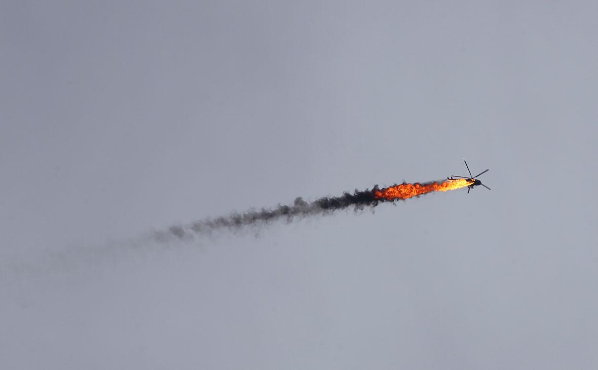 Сирийский вертолет сбит ракетой в провинции Идлиб