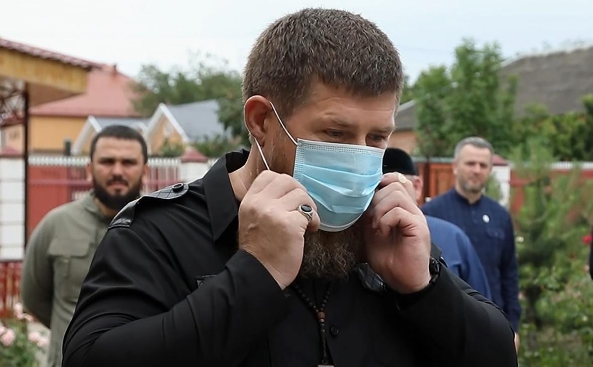 Рамзан Кадыров на голосовании по поправкам в Конституцию РФ