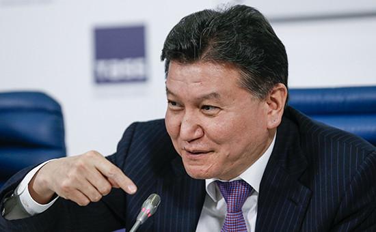 ПрезидентМеждународной федерации шахмат (ФИДЕ) Кирсан Илюмжинов