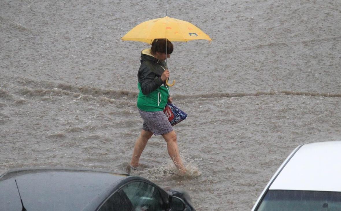 28 июня сильные ливни вызвали затопление уфимских улиц