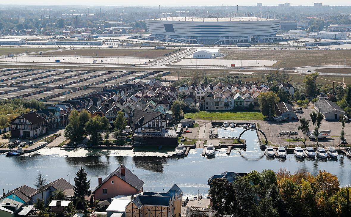 Вид на остров Октябрьский в Калининграде