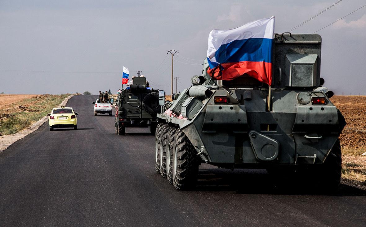 Российский военный патруль в Сирии