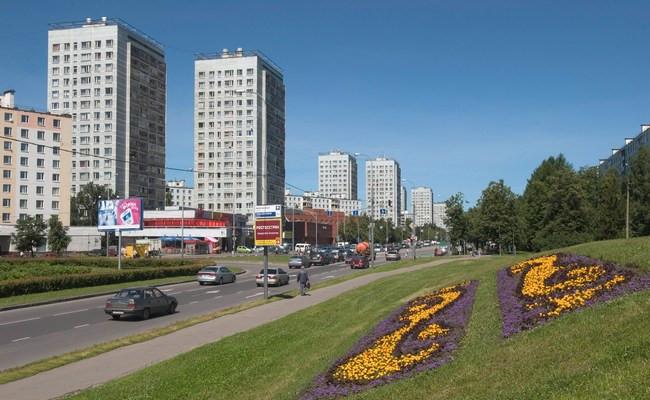Вид на проспект в центре Зеленограда