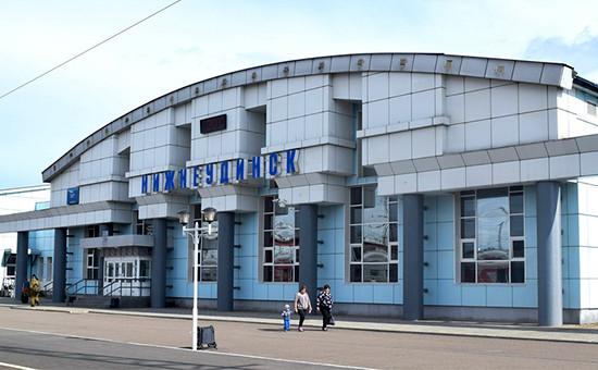 Железнодорожный вокзал в городеНижнеудинск