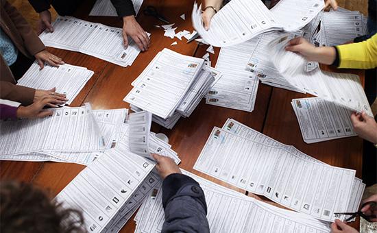 Во время подсчета голосов после окончания выборов в единый день голосования