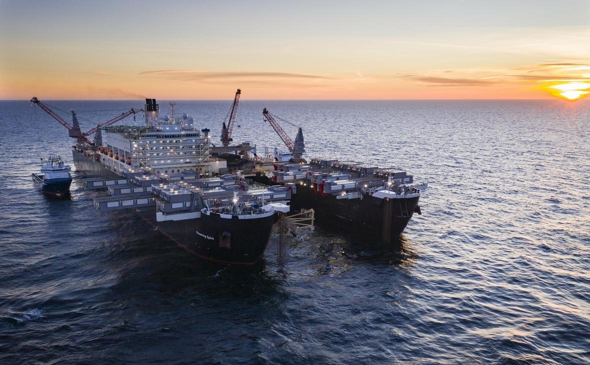 Строительство морской части газопровода «Северный поток— 2»