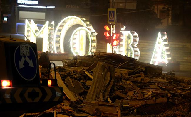 Снос торгового павильона, признанного объектом самовольного строительства, у станции метро «Кропоткинская»