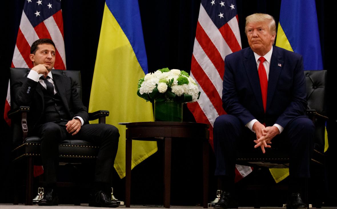Владимир Зеленский (слева) и Дональд Трамп