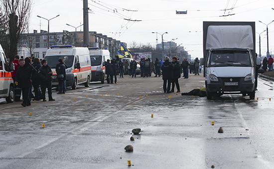 На проспекте Маршала Жукова в Харькове, где произошел взрыв